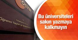 LYS tercihleri 2016 ÖSYM bu üniversiteleri yazmayın!
