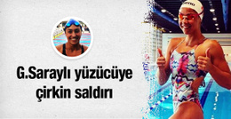 Galatasaraylı milli yüzücüye çirkin saldırı!