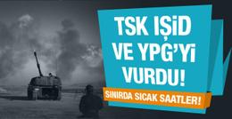 TSK'dan DEAŞ ve YPG'ye topçu ateşi!