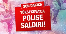 Yüksekova'da roketli saldırı! 1 polis yaralı!