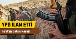 YPG'den flaş Fırat'ın batısı açıklaması
