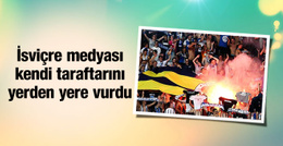 Fenerbahçe bayrağı yakıldı İsviçre ayağa kalktı