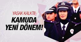 Kamuda başörtü kararı kadın polislere engel kalktı!
