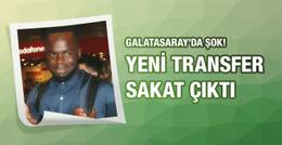 Galatasaray'ın yeni transferi sakat çıktı!