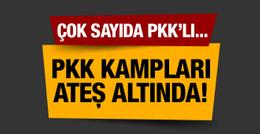 PKK kampları ateş altında! Çok sayıda PKK'lı...
