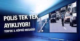 Polisten TEM Otoyolu'nda TIR ve kamyon mesaisi!