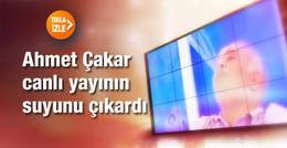 Ahmet Çakar canlı yayında suyunu çıkardı!