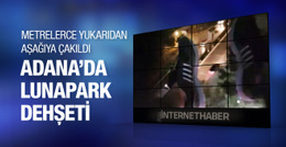Adana'da lunaparkta dehşet anları!