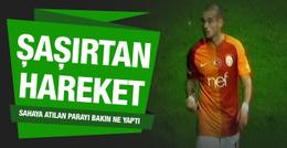 Sneijder'in hareketi sosyal medyayı salladı
