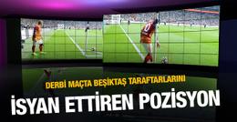 Beşiktaş-Galatasaray derbisinde tartışılan pozisyon