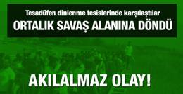 Sakarya ile Eskişehirspor taraftarı birbirine girdi