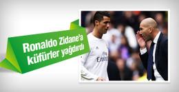 Cristiano Ronaldo Zidane'a küfürler yağdırdı