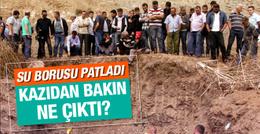 Su borusu kazısında antik lahitler bulundu!