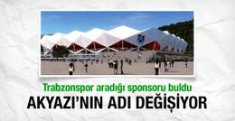 Trabzon Akyazı Stadı'nın ismi değişiyor
