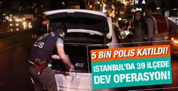 İstanbul'da 39 ilçede asayiş uygulaması!