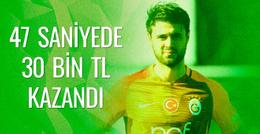 Galatasaraylı Ahmet Çalık 47 saniyede 30 bin TL kazandı
