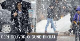 İstanbul hava durumu kar geliyor işte o tarih!