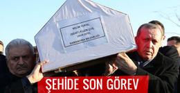 Erdoğan ve Yıldırım'dan El Bab şehidine son görev