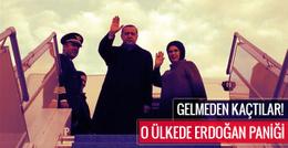 O ülkede Erdoğan paniği! Gelmeden kaçtılar