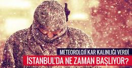 İstanbul hava durumu Meteoroloji kar kalınlığı verdi
