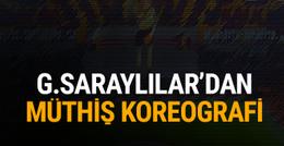 Galatasaray taraftarından muhteşem koreografi