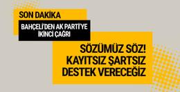 Bahçeli'den AK Parti'ye idam çağrısı kayıtsız şartsız...