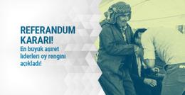 Aşiret liderleri referandum kararını açıkladı!