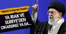 İran'dan Türkiye'ye küstah tehdit! Irak ve Suriye'den çıkarlar ya da...