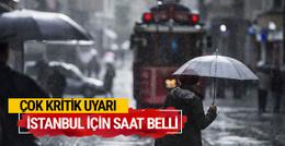 İstanbul hava durumu için Meteoroloji'den kritik uyarı