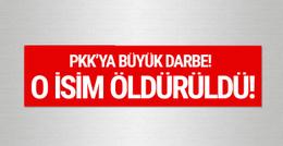 PKK'nın üst düzey ismi öldürüldü!