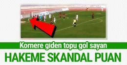 2. Lig maçındaki skandal hakeme skandal not