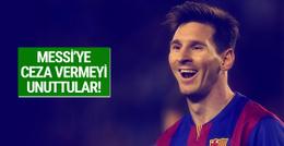 Federasyondan Messi'ye gecikmeli ceza