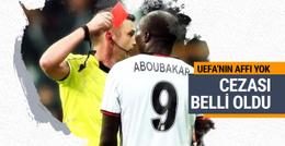 UEFA Aboubakar'ın cezasını açıkladı