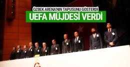 Dursun Özbek TT Arena tapusunu gösterdi