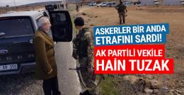 AK Partili vekilin geçiş güzergahında mayın paniği!