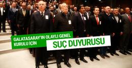 Galatasaray divan kurulu üyeleri hakkında suç duyurusu