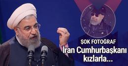 İran'ı sallayan bomba fotoğraf! Cumhurbaşkanı kızlarla...