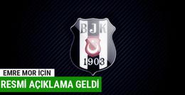 Beşiktaş'tan Emre Mor için resmi açıklama geldi