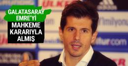 Galatasaray Emre Belözoğlu'nu mahkeme kararıyla almış