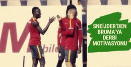 Sneijder'den Bruma'ya derbi motivasyonu