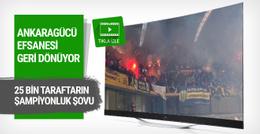 Ankaragücü taraftarından Kayseri'de şov