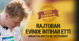 Gaziantepsporlu futbolcu kendini astı