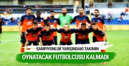 Başakşehir'in neredeyse oynatacak futbolcusu kalmadı