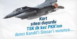 Kürt sitesi duyurdu! TSK ilk kez Sincar'ı vurunca...