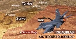 İşte son operasyonda öldürülen PKK'lı sayısı