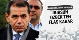 Derbi yenilgisi sonrası Dursun Özbek'ten flaş karar