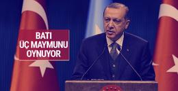 Cumhurbaşkanı Erdoğan: Batı üç maymunu oynuyor