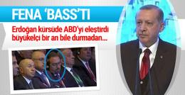 Erdoğan kürsüde ABD'yi eleştirdi karşısındaki büyükelçi ise...