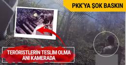 PKK'lıların teslim olma anı kamerada!