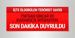 TSK'dan son dakika Sincar ve Karaçok açıklaması